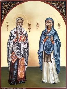 Αγιογραφίες, εικόνες, τοιχογραφίες,παραγγελία, μαθήματα αγιογραφίας, Άγιος Κυπριανός, Αγία Ιουστίνα