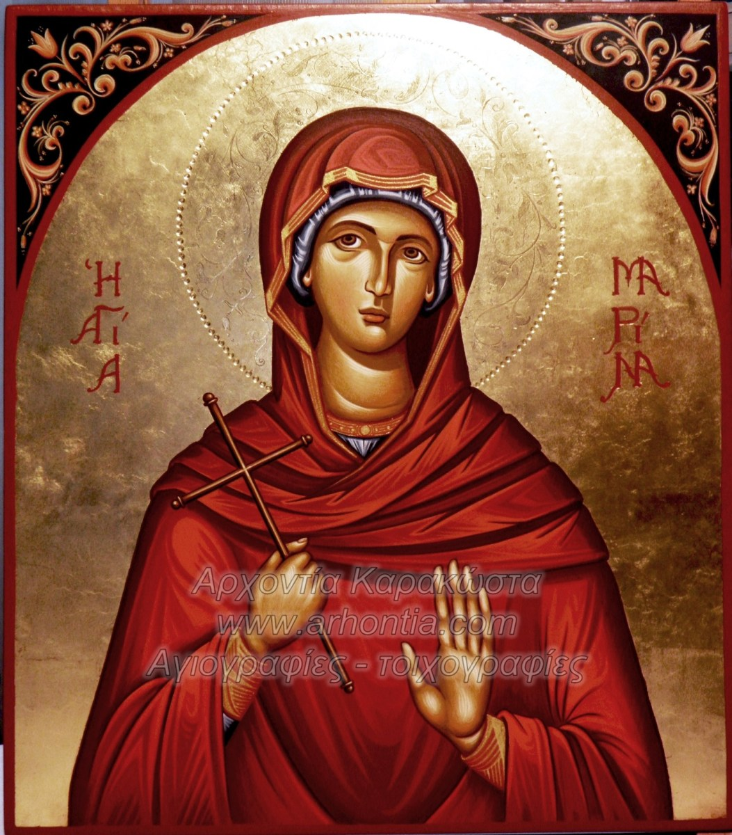 Αγιογραφία Η Αγία Μαρίνα, αγιογραφίες , εικόνες κατά παραγγελία