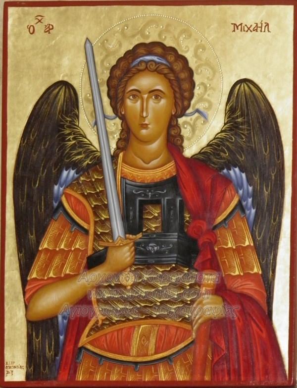 Ο Αρχάγγελος Μιχαήλ ο μέγας Ταξιάρχης, εικόνες αγιογραφίες κατά παραγγελία